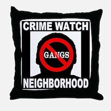 No Gangs Throw Pillow