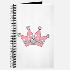 Princess Pink Crown Diamonds Journal