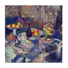 Cool Fauvism Tile Coaster