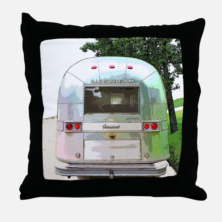 Vintage Airstream Throw Pillow