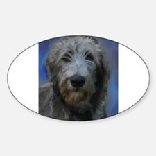 Cute Irish wolfhound art Decal