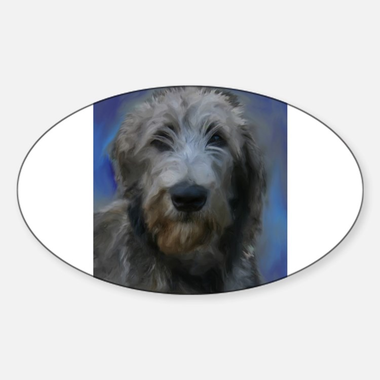 Cute Irish wolfhound painting Decal