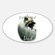 Keeshond Dad2 Oval Decal