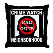 No Bad Guys Throw Pillow
