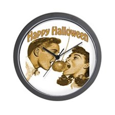HAppy Halloween Couple Wall Clock