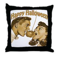 HAppy Halloween Couple Throw Pillow