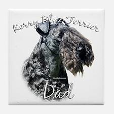 Kerry Blue Dad2 Tile Coaster