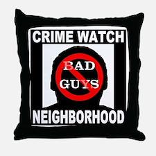 No Bad Guys Throw Pillow