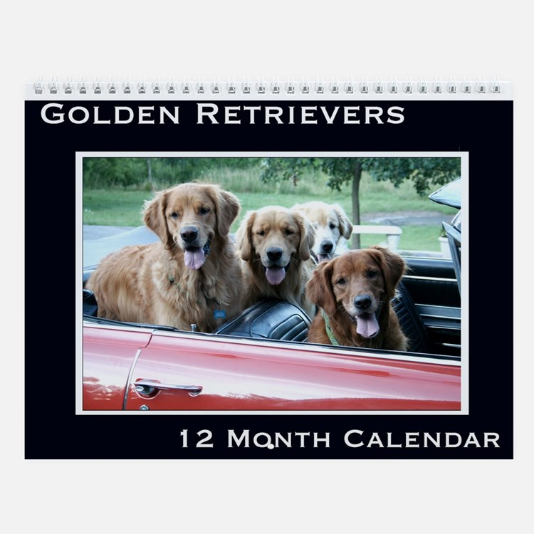 Golden Retriever Wall Calendar