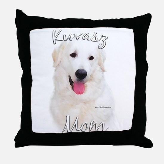 Kuvasz Mom2 Throw Pillow