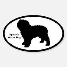 Cute Spanish water dogs Sticker (Oval 10 pk)
