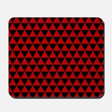 Red Triangles Mousepad
