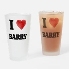 I Love Barry Drinking Glass