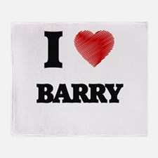I Love Barry Throw Blanket