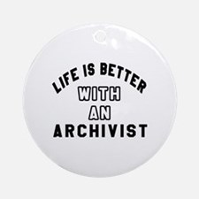 Archivist Designs Round Ornament