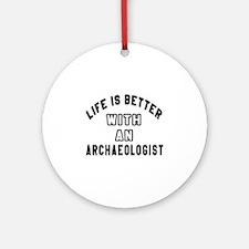 Archaeologist Designs Round Ornament
