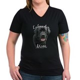 Black lab Womens V-Neck T-shirts (Dark)