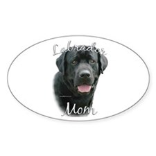 Lab Mom2 Oval Decal