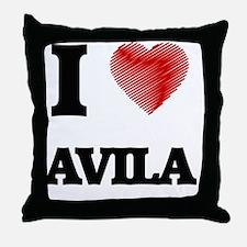 Cute Avila family reunion Throw Pillow
