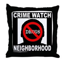 No Drugs Throw Pillow