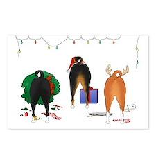 Basenji Christmas Postcards (Package of 8)