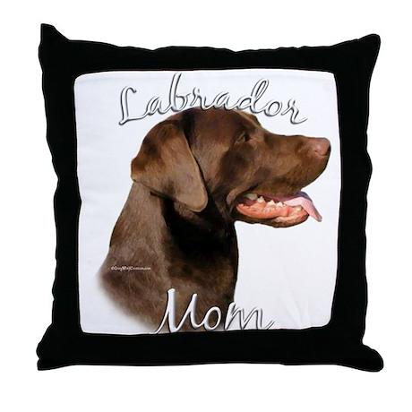 Lab Mom2 Throw Pillow