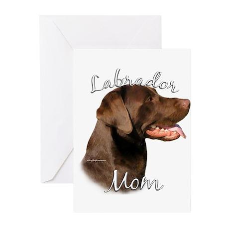 Lab Mom2 Greeting Cards (Pk of 10)