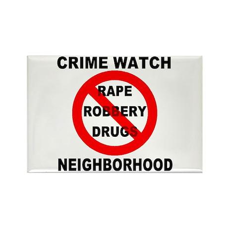 Crime Watch Neighborhood Rectangle Magnet