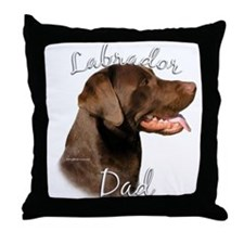 Lab Dad2 Throw Pillow