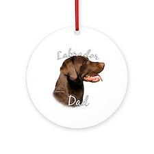 Lab Dad2 Ornament (Round)