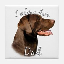 Lab Dad2 Tile Coaster