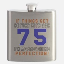 75 I'm Approaching Perfection Birthday Flask
