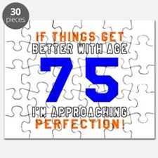 75 I'm Approaching Perfection Birthday Puzzle