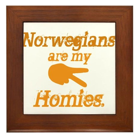 Norwegians are my Homies Framed Tile