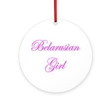 Belarusian Girl Ornament (Round)