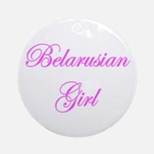 Belarusian Girl Ornament (Round)