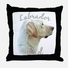 Lab Dad2 Throw Pillow