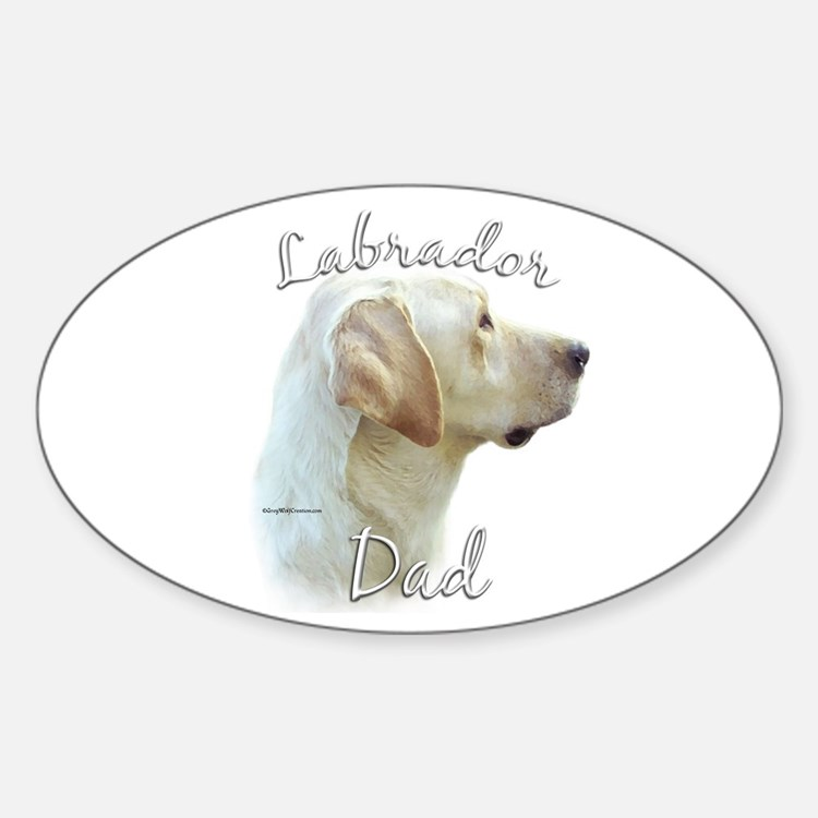 Lab Dad2 Oval Decal