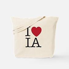 I Love IA Iowa Tote Bag