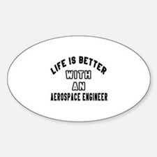 Aerospace Engineer Designs Sticker (Oval)