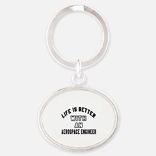 Aerospace Engineer Designs Oval Keychain
