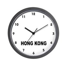 Hong Kong-World Time Wall Clock