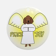 Peace Joy Redbone Coonhound Christmas Ornament