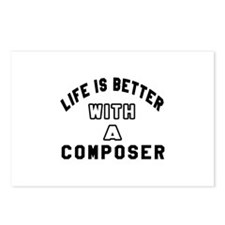 Composer Designs Postcards (Package of 8)