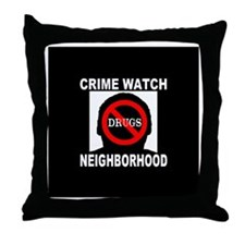 Crime Watch Neighborhood No D Throw Pillow