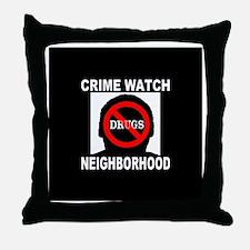 Crime Watch Neighborhood No D Throw Pillow