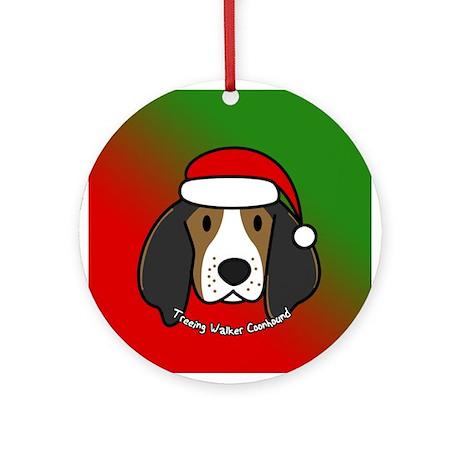 Cartoon Tree Walker Coonhound Christmas Ornament