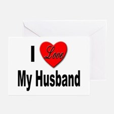 I Love My Husband Greeting Cards (Pk of 10)