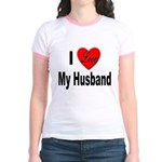I Love My Husband (Front) Jr. Ringer T-shirt