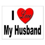 I Love My Husband Small Poster